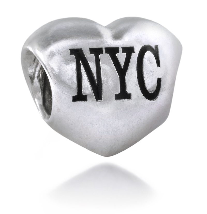 pandora new york cab charm