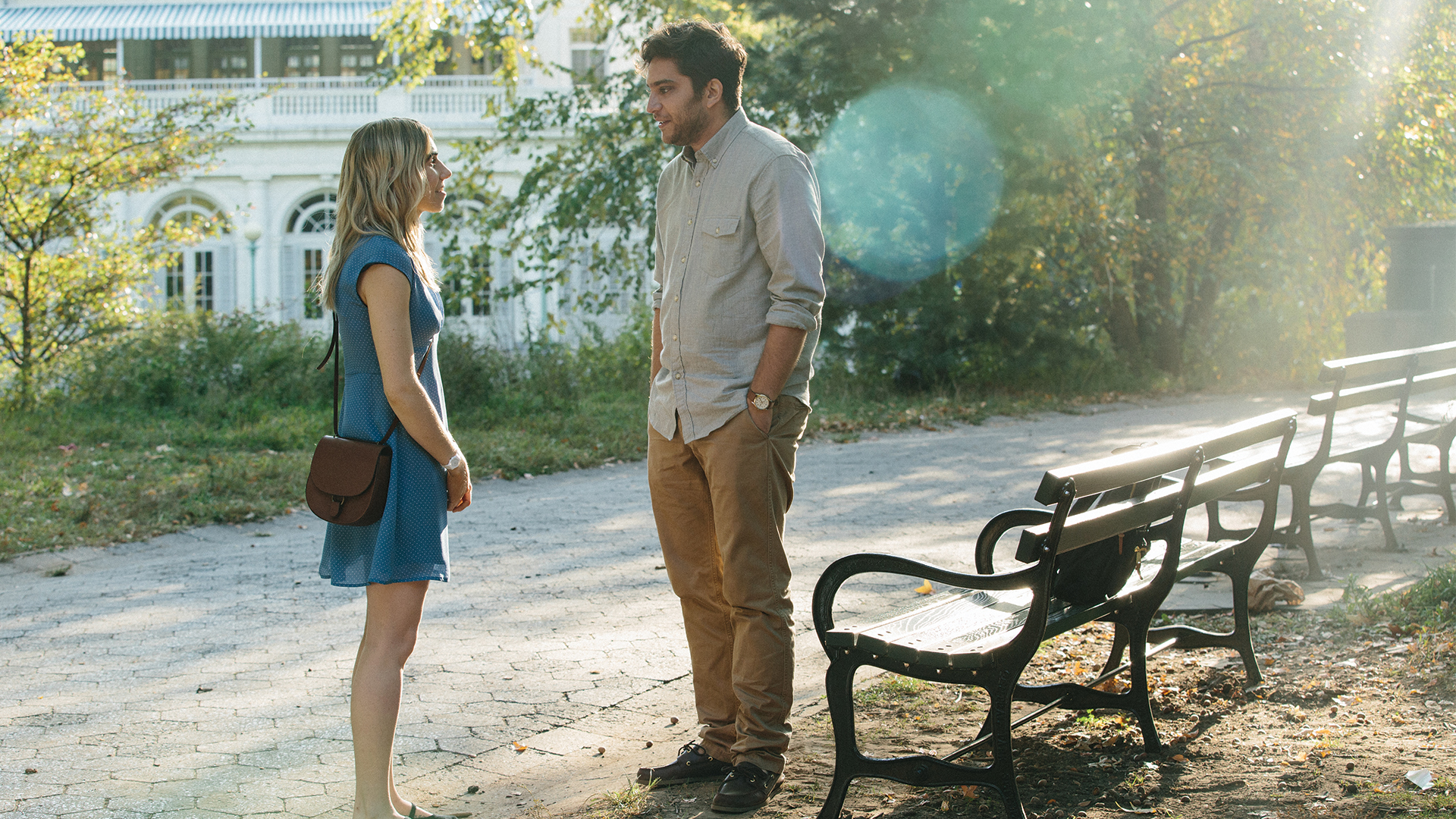 Zosia Mamet as Diana and Matt Schear as Ben in THE BOY DOWNSTAIRS. Photo by Jon Pack.
